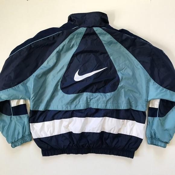 Esquiar Nuez cebra  Nike Jackets & Coats | Nike Vintage Big Logo Lined Zip Up Sport Jacket |  Poshmark
